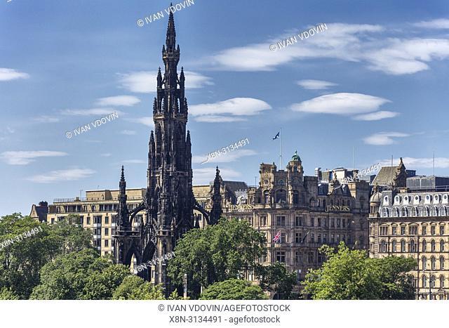 Sir Walter Scott Monument, Edinburgh, Scotland, UK