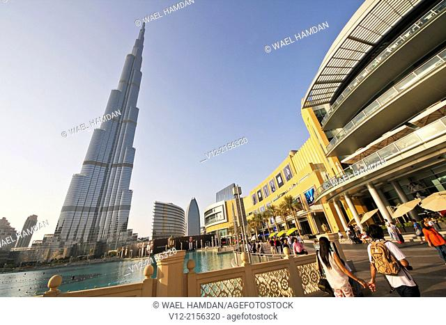 Burj Khalifa, Dubai Mall, the tallest building in the world in downtown Dubai