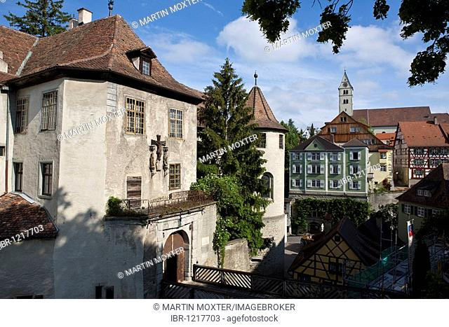 The Altes Schloss old castle, Meersburg on Lake Constance, administrative district of Tuebingen, Bodenseekreis district, Baden-Wuerttemberg, Germany, Europe