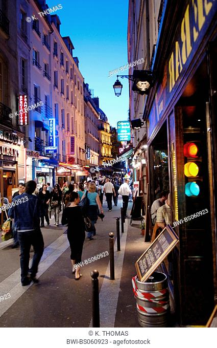 Paris, nightlife in the Latin quarter, France, Paris