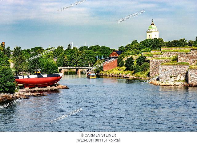 Finland, Helsinki, Suomenlinna, castle island, submarine