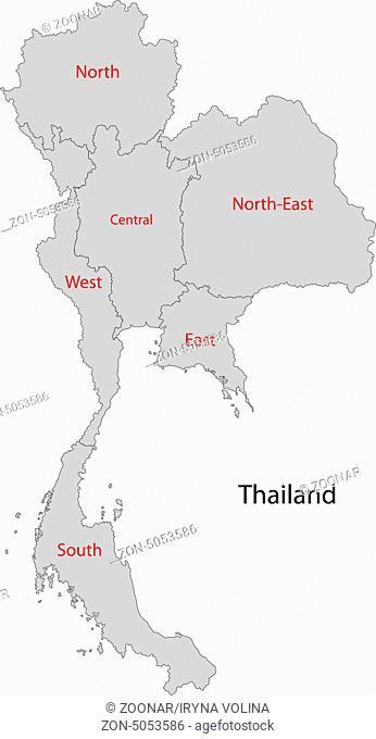 Grey Thailand map