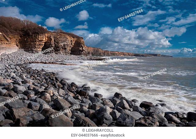 St Donuts Bay on the South Wales Heritage coast near Llantwit Major