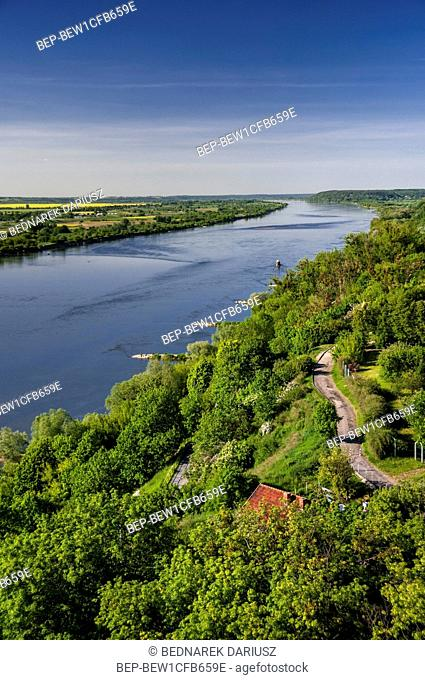 View from the Klimek Tower, Grudziadz, city in Kuyavian-Pomeranian Voivodeship, Poland