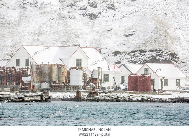British Antarctic Survey Research Station at King Edward Point, South Georgia, UK Overseas Protectorate, Polar Regions