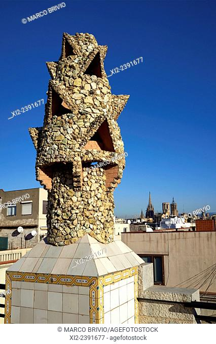 The Palau Güell is a mansion designed by the architect Antoni Gaudi for the industrial tycoon Eusebi Güell, and built between 1886 and 1888