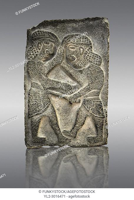 9th century BC Basalt Neo-Hittite/ Aramaean Orthostats from Palace Temple of the Aramaean city of Tell Halaf in northeastern Syria close to the Turkish border