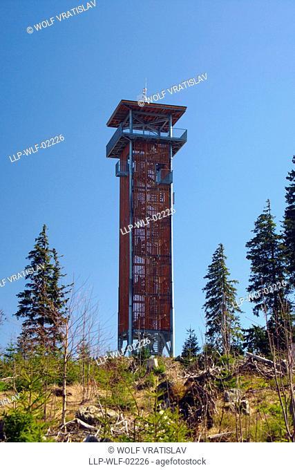 Spicak Look-out Tower, Sumava National Park, the Southwestern Bohemia, Czech Republic