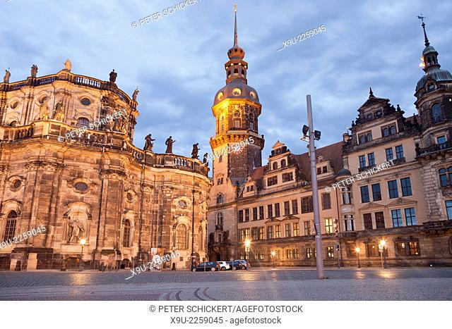 Royal Palace or castle in Dresden, Saxony, Germany, Europe