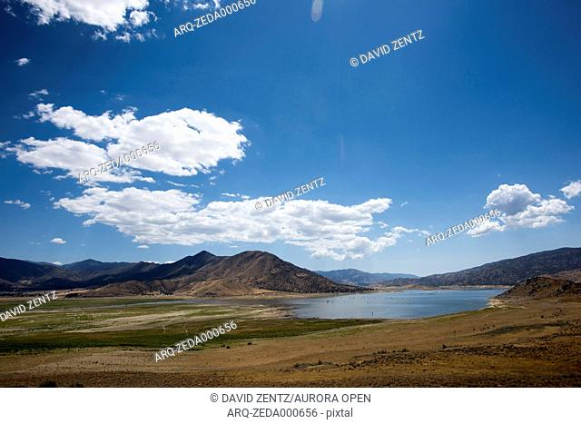 Isabella Lake in Kern County, Calif., is pictured on June 7, 2015. Due to severe drought, the water levels are far below normal