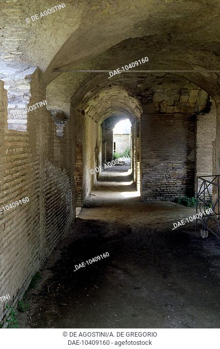 Interior of the Baths of the Seven Sages, Ostia Antica, Rome, Italy. Roman civilisation