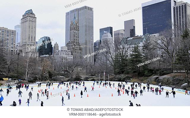 Wollman ice-skating rink, Central Park, Manhattan, New York City, USA