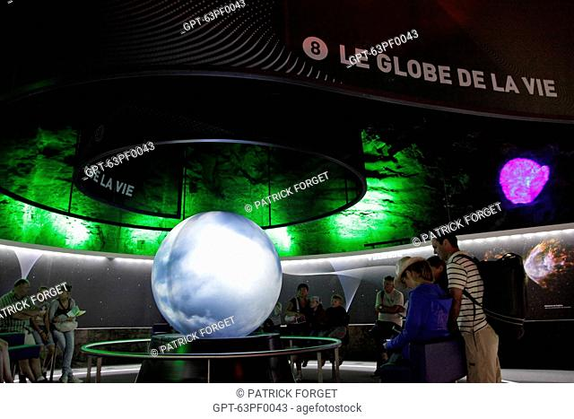 EARTH MACHINE, AN INTERACTIVE TRAIL FOR DISCOVERING THE EARTH, VULCANIA THEME PARK, SAINT-OURS-LES ROCHES, PUY-DE-DOME 63, FRANCE