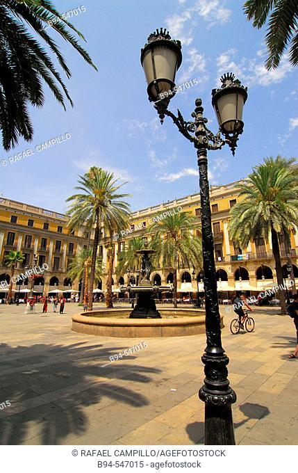 Plaça Reial. Barcelona. Spain