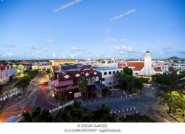 Main Street, Oranjestad, Aruba, Lesser Antilles, Central America