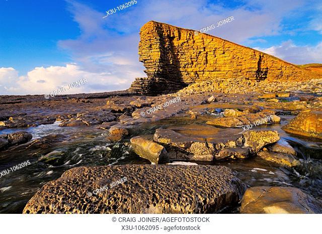 Nash Point on the Glamorgan Heritage Coast, Marcross, Glamorgan, Wales, United Kingdom