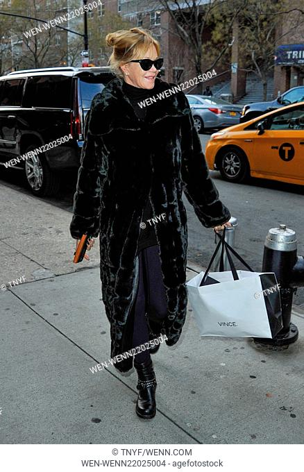 Melanie Griffith arriving at her hotel in New York City Featuring: Melanie Griffith Where: Manhattan, New York, United States When: 16 Dec 2014 Credit:...