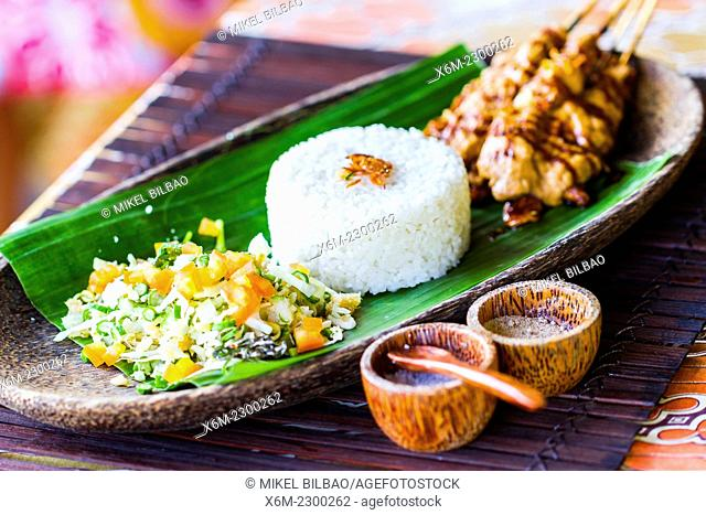 Indonesian rice traditional recipe. City of Yogyakarta, Java island, Indonesia, Asia
