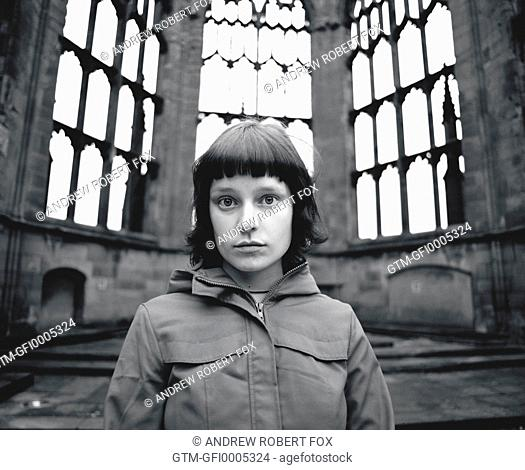 Portrait of Girl In Ruined Cathedral