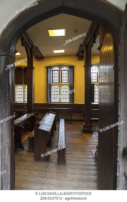 Old classroom. Etom College. London. United Kingdom