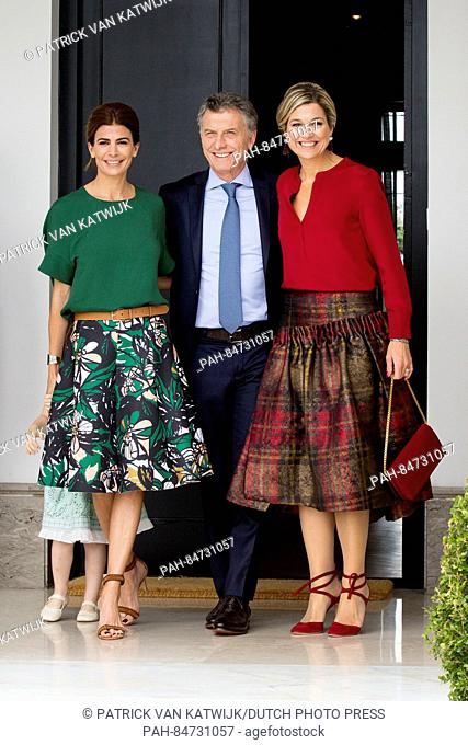 Queen Maxima of The Netherlands visits President Mauricio Macri and his wife Julia Awada and their daughter Antonia at the Residencia de Olivos the president-s...