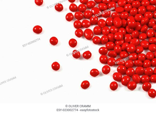 rotes Plastik Granulat