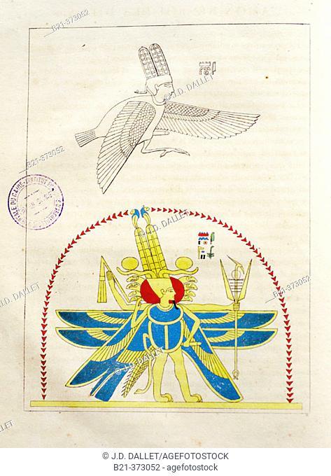 Page of 'Panthéon égyptien, ou collection des personnages mythologiques de l'ancienne Égypte' (1823-25; Egyptian Pantheon
