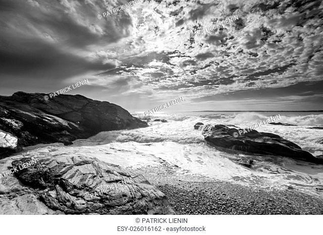 Photograph of a coastal landscape in Rhode Island