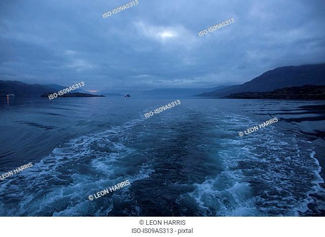 Waves from trawler, Isle of Skye, Scotland