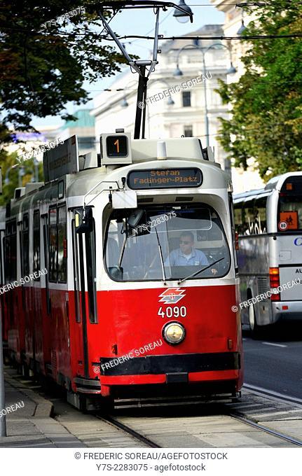 Tramway in Vienna, Austria