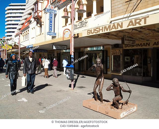 Namibia - The Independence Avenue, the main street of Namibia's capital Windhoek, has some well-preserved buildings of German colonial architecture
