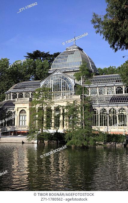 Spain, Madrid, Palacio de Cristal, Parque del Buen Retiro