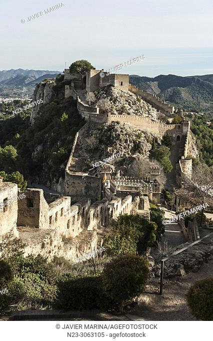 Castle of Xativa, Province of Valencia, Spain
