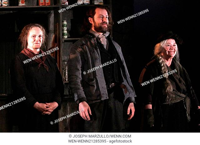 Opening night curtain call for The Cripple of Inishmaan at the Cort Theatre. Featuring: Gillian Hanna,Padraic Delaney,June Watson Where: New York, New York