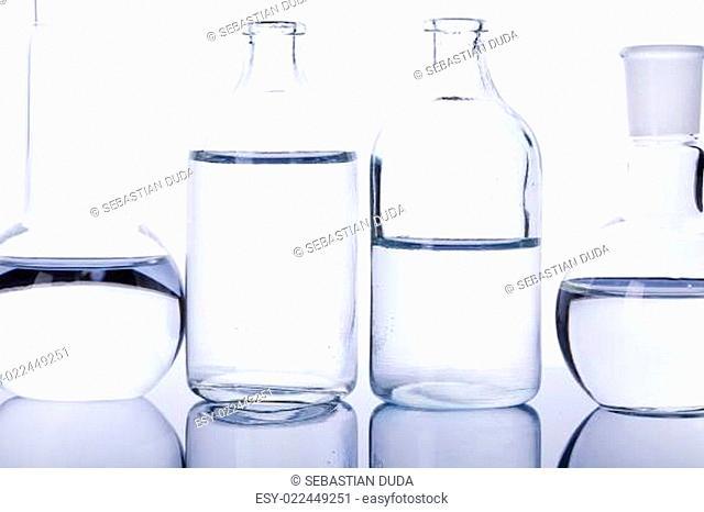 Glass in laboratory