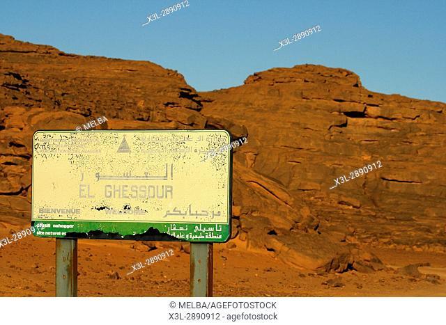El Ghessour. Tassili Ahaggar. Sahara desert. Algeria
