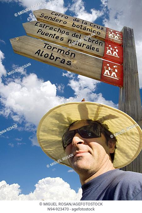 Hiker. Province of Teruel. Aragon. Spain
