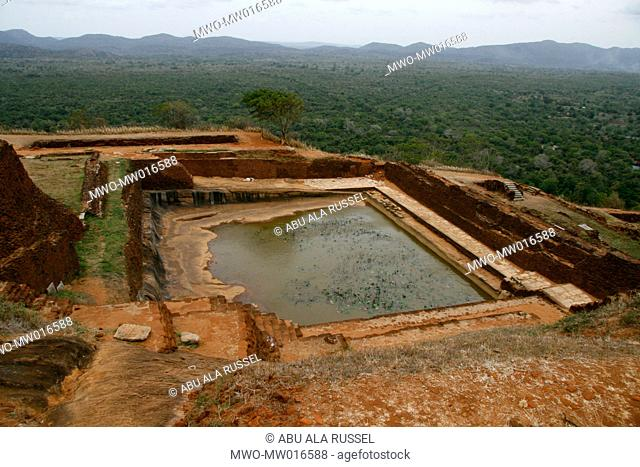 The Royal swimming pool, on Sigiriya rock, in Matale district of Sri Lanka This 370 meter high lava mound of an ancient volcano is famous for the fortified...