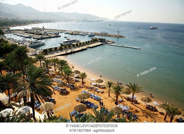 View overthe Beaches of Aqaba, Jordan