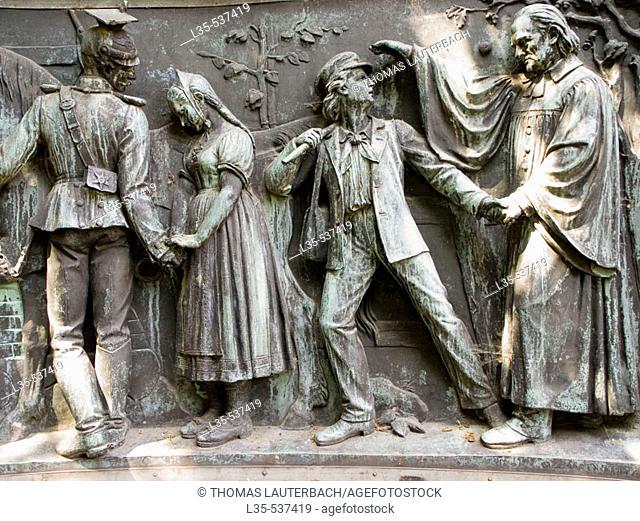 War Memorial by Rudolf Siemering. Franco-Prussian War (1870-71). Kiel, Germany