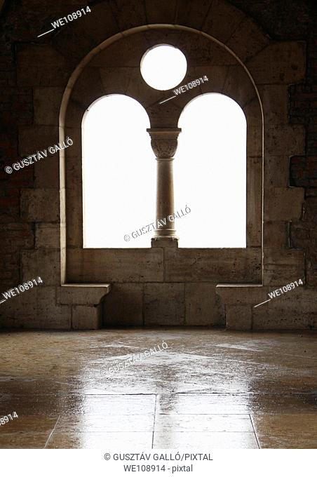 neo-Romanesque window