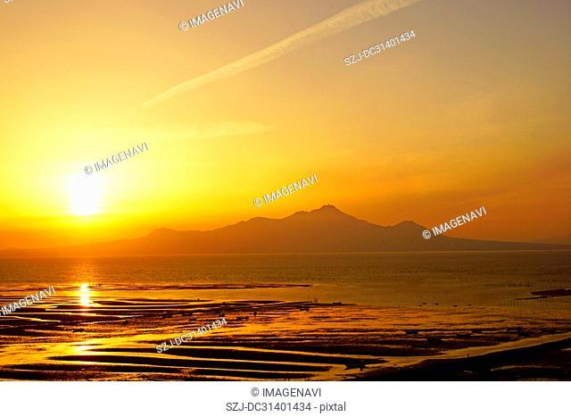 Ariake Sea at dusk