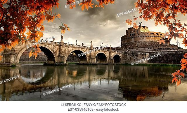 Roman castle of Saint Angelo in autumn, Italy