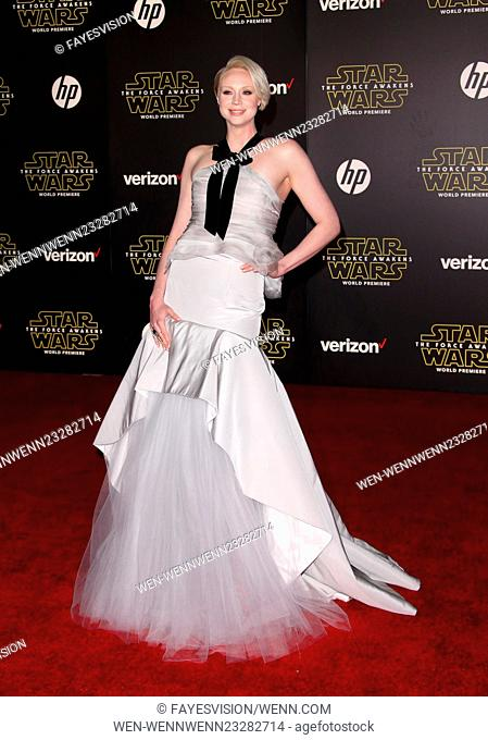 """Premiere Of Walt Disney Pictures And Lucasfilm's """"""""Star Wars: The Force Awakens"""""""" Featuring: Gwendoline Christie Where: Hollywood, California"""