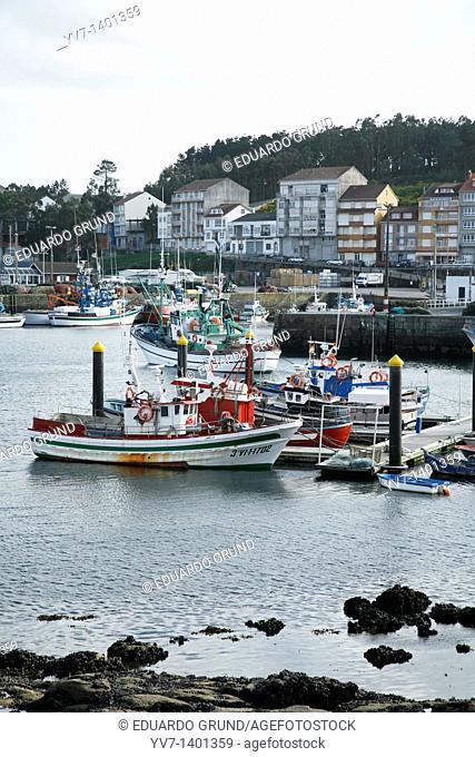 Camariñas port with its fishing boats  Camariñas, Coruña, Galicia, Spain