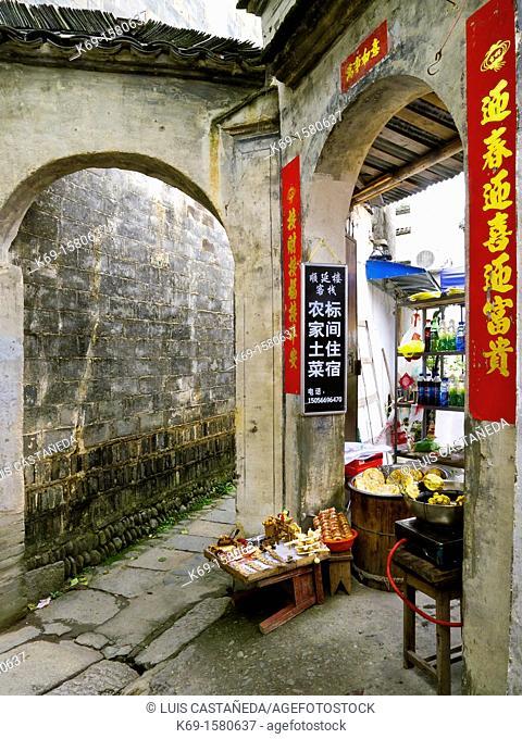 Small Shop  Hongcun  Anhui  China