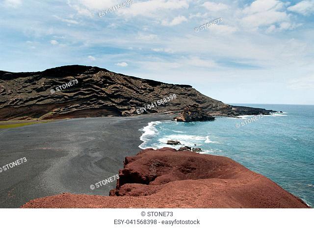 Volcanic coastline of Lanzarote