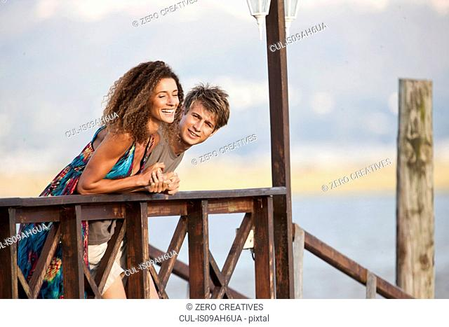 Young couple on jetty