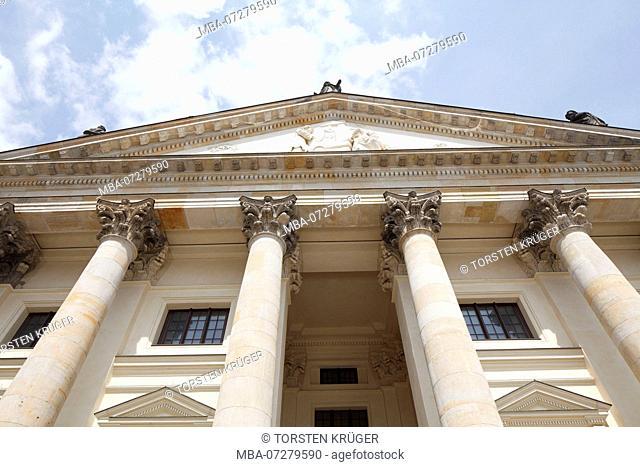 French Cathedral, portal worm's-eye view, Gendarmenmarkt, Berlin, Germany, Europe