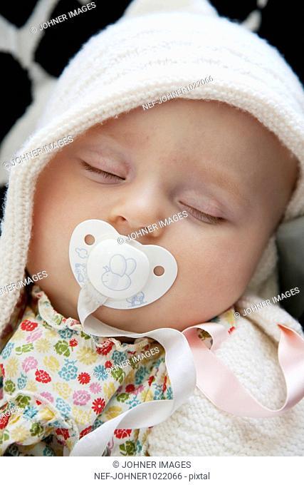 Sweden, baby girl sleeping